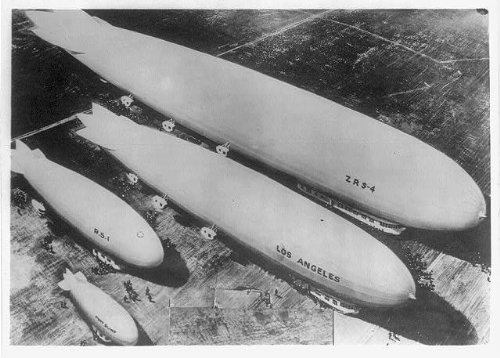 Photo: Aerial photo,US Navy Airships on ground,ZRS-4,LOS ANGELES,RS-1,PONY - That Stores Oakleys Sell