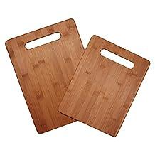 Totally Bamboo 20-2038 Bamboo Cutting Board Set, 2-Board Set