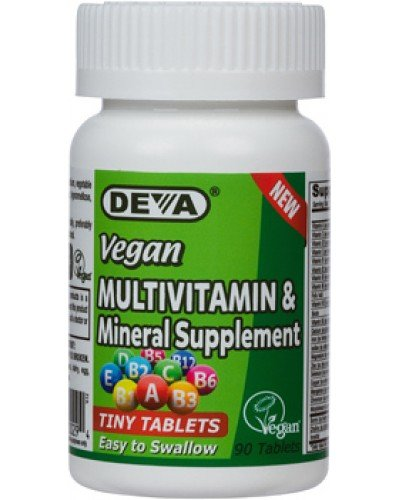 Deva Vegan Multivitamin, Mineral Supplement, Tiny Tablets,