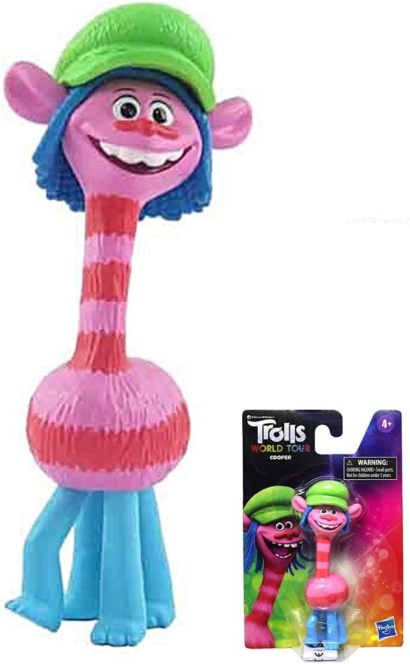 DreamWorks Exclusive Collectors Keepsake ~ 4 Inches Tall ~ Cooper DWS Trolls World Tour Collectible Figure