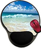 Liili Mousepad wrist protected Mouse Pads/Mat with wrist support design the beach Photo 6934946