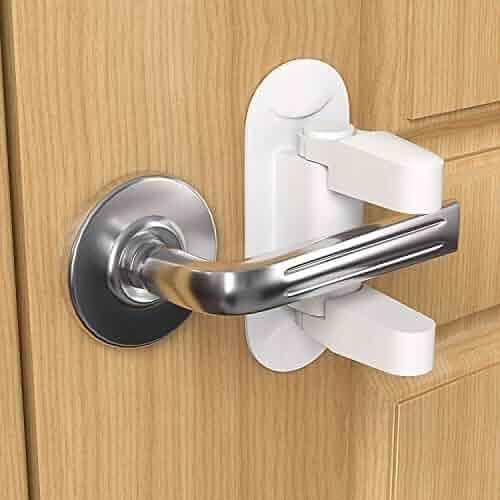 Lever Door Knob Locks Child Proof 2 Pack French Handle Doors