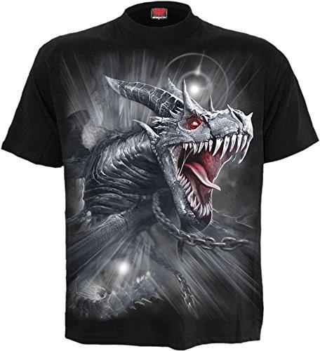 (Spiral - Mens - Dragon's CRY - T-Shirt Black - XXL)
