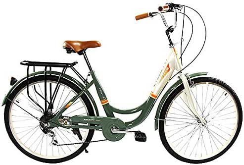 Zycle Fix ZF-OLVE-26 City Bikes, Olive, 26-Inch Wheel/Frame