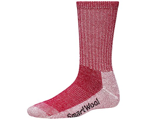 SmartWool Womens Light Crew Hiking Socks - AW15 - Medium - Red