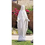 Avalon Gallery White Our Lady of Grace Val Gardena Resin Statue, 60 Inch