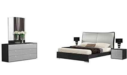 Amazon.com: J&M Furniture Vera Modern Queen Bedroom Set in ...