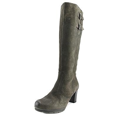 Gabor 72.887 Damen US 9 Grau Breit Mode Knie Hoch Stiefel