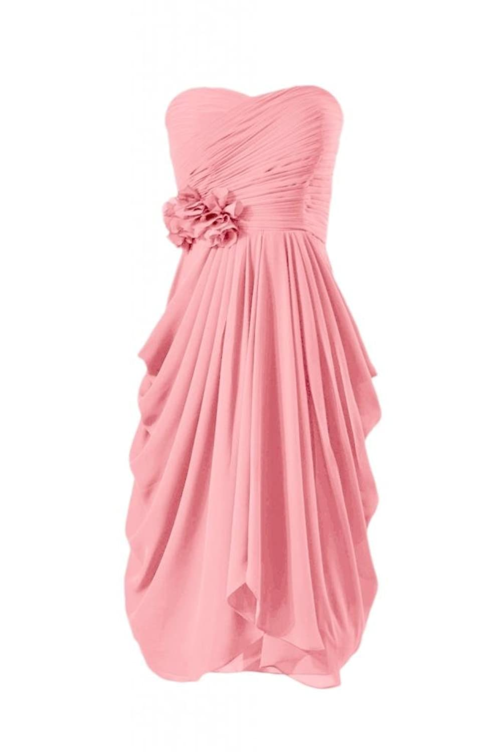 DaisyFormals Knee Length Chiffon Bridesmaid Dress Sweetheart Party Gown(BM332)