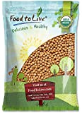 Organic Garbanzo Beans / Dried Chickpeas — Certified, Non-GMO, Kosher, Raw, Sproutable, Bulk (by Food to Live) 5 Pounds