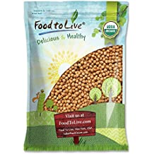 Organic Garbanzo Beans/Dried Chickpeas by by Food to Live (Non-GMO, Kosher, Raw, Sproutable, Bulk) — 5 Pounds