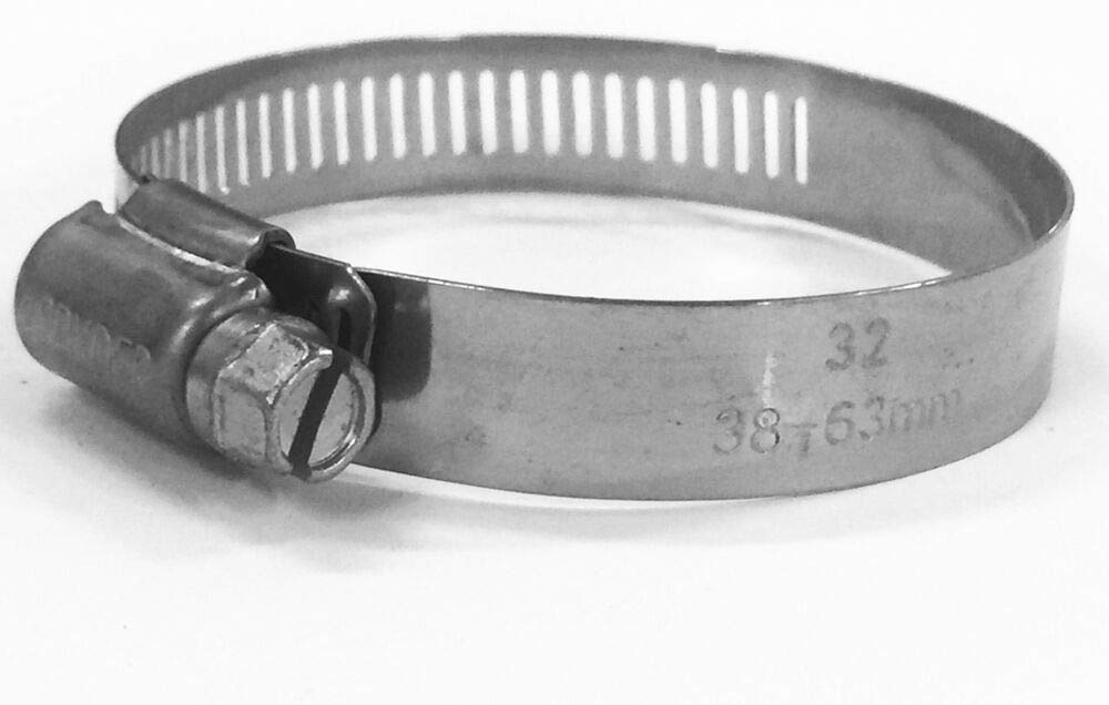 all stainless steel Hose Clamp bulk 25 pieces (Size SAE 32) #32