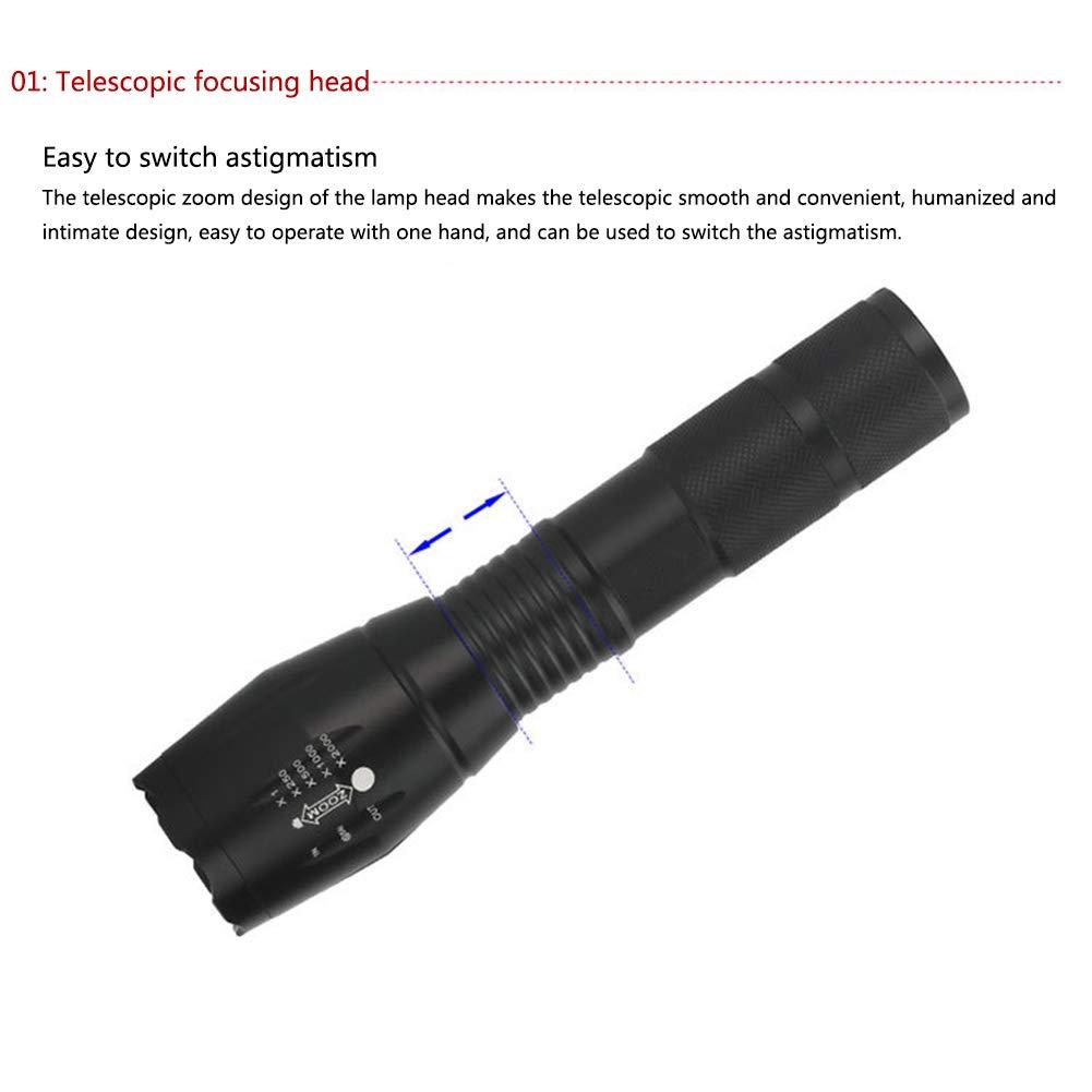 ad9860cfda ... ACBAZEFA modalità Portatile Luce Luce Luce LED Torcia Regolabile Fuoco  Regolabile 5 modalità Luce Spotlight Tattico ...