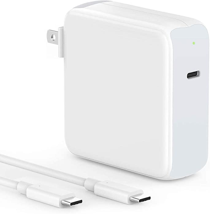 SZPOWER 87W USB C Charger Power Adapter for MacBook Pro 15, 13 inch, New MacBook air 13 inch 2020/2019/2018, iPad Pro 12.9, 11, Thunderbolt 3 Power Supply, Type C, LED, 6.6ft 5A USB C to C Cord