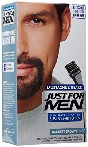 Just Men Mustache Beard Darkest