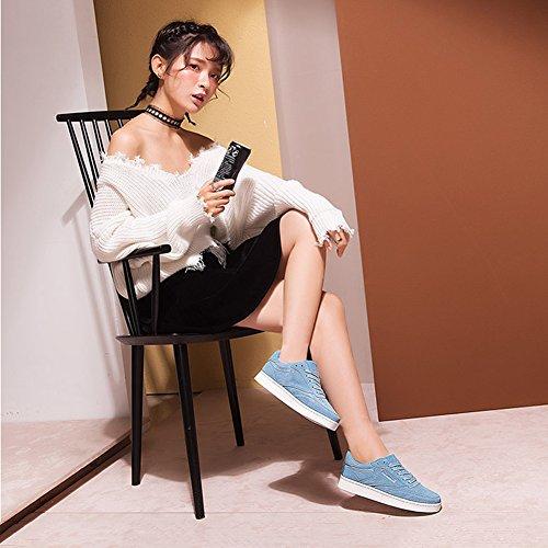 UK5 Azul Comodidad 235mm Color Colores 6 Azul 6 Para EU37 Disponibles LIANGJUN Deporte Tamaños De Mujer Tamaño Zapatos Zapatillas Cordones Plano L xfnqUFwAgZ