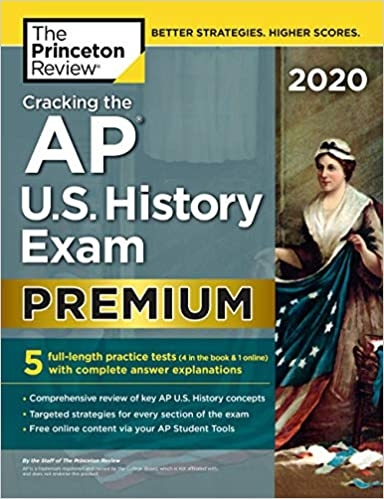 Amazon com: Cracking the AP U S  History Exam 2020, Premium