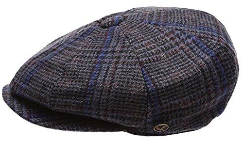 Epoch Men's Classic 8 Panel Wool Blend newsboy Snap Brim Collection Hat
