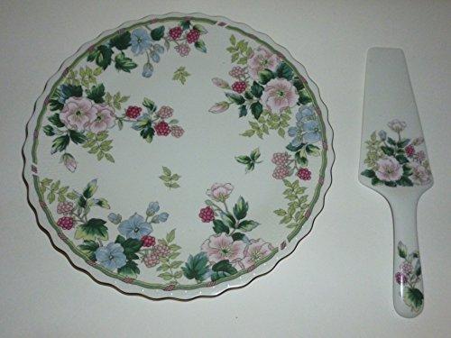 Andrea By Sadek Flowers & Berries Cake Plate & Server (Andrea By Sadek Cake Plate With Server)