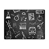 Vantaso Soft Foam Area Rugs Doodle Set of School Non Slip Play Mats 63x48 inch for Kids Playing Living Room