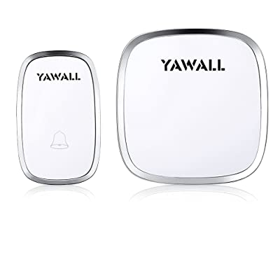 Wireless Doorbell Kit, YAWALL 1 Remote Push Button and 1 Plugin Door Chime
