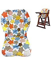 Twoworld High Chair Cushion, Large Thickening Baby High Chair Seat Cushion Liner Mat Pad Cover Breathable (Colored Stars)