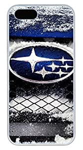 iPhone 5S Case, iPhone 5S Cases - Slim Fit Shock Absorbent White Back Case for iPhone 5/5s Subaru Car Logo 7 Drop Protection Hard Bumper Case for iPhone 5/5S