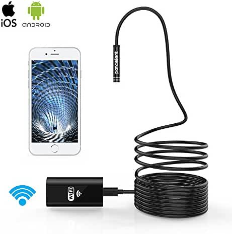 WiFi Endoscope Pancellent Wireless Borescope 2.0 Mega Pixels HD Inspection Camera Rigid Snake Cable for IOS iPhone Android Samsung Smartphone