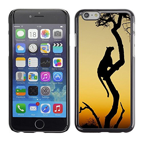 Plastic Shell Protective Case Cover || Apple iPhone 6 Plus 5.5 || Cat African Wilderness Sunset @XPTECH
