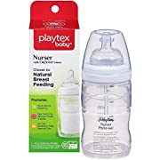 Playtex Drop-Ins Premium Nurser Bottle, 4 Ounce, White