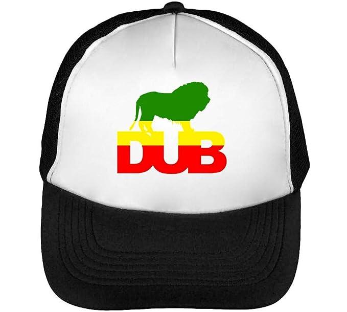 Dub Lion Of Zion Fashioned Gorras Hombre Snapback Beisbol Negro Blanco: Amazon.es: Ropa y accesorios