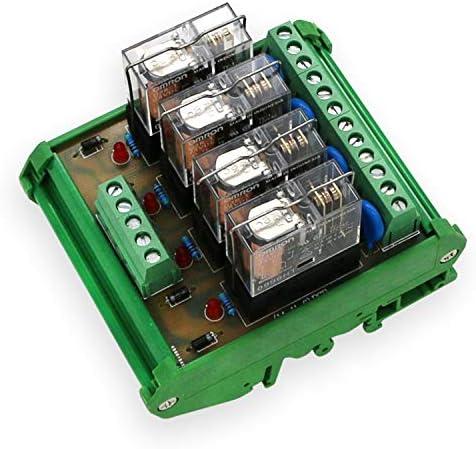 便利 4リレーモジュール4パネルドライバーボードモジュールDC 12V入力信号PNP 組み立てが簡単 (Bundle : DC12V PNP With shell)