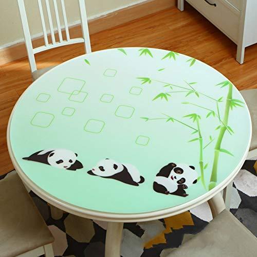 80 cm MU Nappe de Table Basse , Nappe de café PVC Facile à Nettoyer Tapis de Table en Plastique imperméable, Anti-brûlure et Anti-brûlure ald Nappe de Restaurant