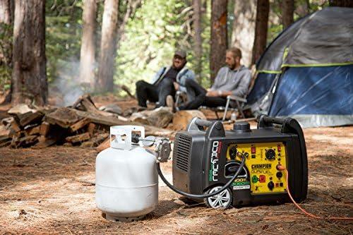 Champion 3400-Watt Dual Fuel RV Ready Portable Inverter Generator with Electric Start 51QZxW7aLLL