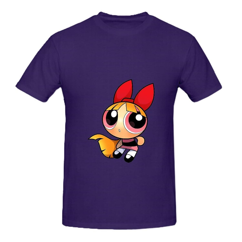 KARLEE Cotton Multi-Colored Powerpuff Girls Blossom Mens Tshirt