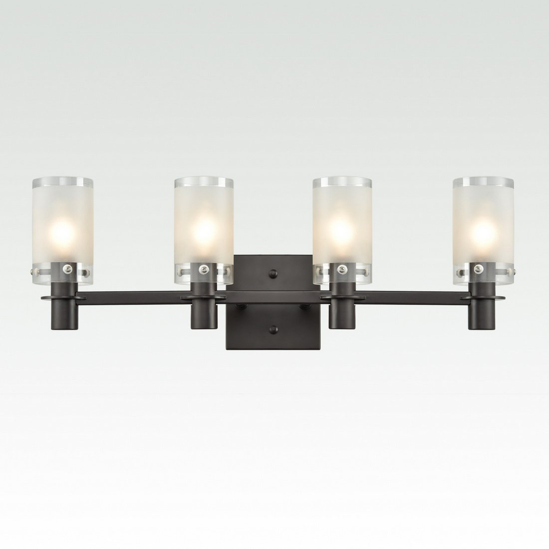 AXILAND Bath Vanity Light Bar Fixture ORB Finish with 4 Frosted Glass Shades