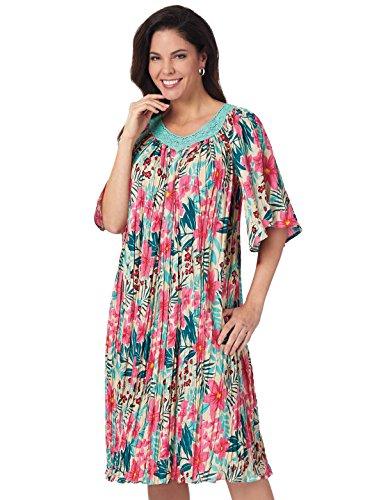 Large Piega Fresco 4x 4x Large Ha Il Extra Extra Formato Formato Vestito Multicolore Stampato Tqw0w6R