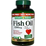 Nature's Bounty Fish Oil 1200mg, 120 Softgels For Sale