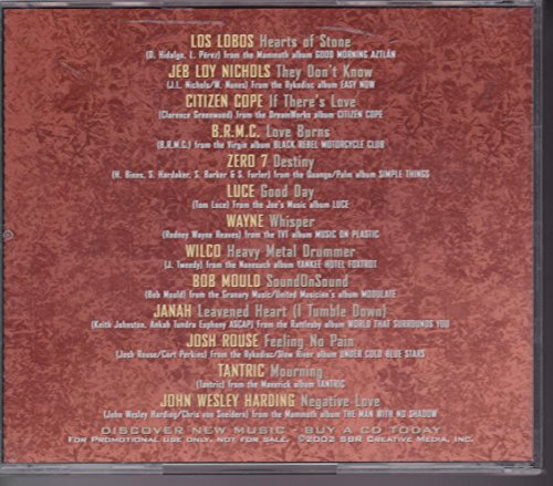 New Names New Music 90.7 WFUV.org Sampler Audio CD w/ Wilco, Los Lobos, Tantric, Citizen Cope + more [2002]