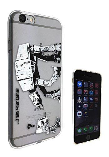 """c0070 - Banksy Grafitti Art Star Wars Robot Design Pour iphone 6 plus / 6 plus S 5.5"""" Protecteur Coque Gel Rubber Silicone protection Case Coque"""
