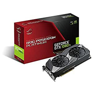 ASUS ROG Poseidon GeForce GTX 1080 TI 11GB Platinum Edition DP HDMI DVI Gaming Graphics Card (ROG-POSEIDON-GTX1080TI-P11G-GAMING)