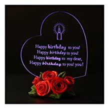 Giftgarden LED Light Up 1st 16th 18th 21st 30th 40th 50th 60th 70th 80th 90th Happy Birthday Cake Topper Decorations Personalized Gifts for Kids Boys Girls Her Him Women Men