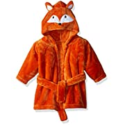 Hudson Baby Soft Plush Bathrobe, Fox, 0-9 Months