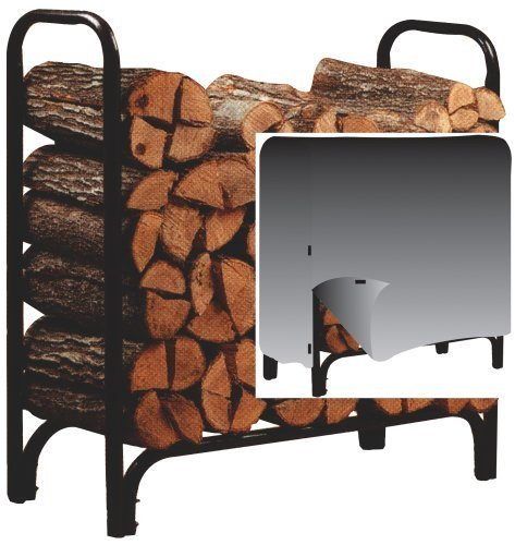 Panacea 15200 4-Foot Deluxe Log Rack with Cover (Firewood Rack Sale For)