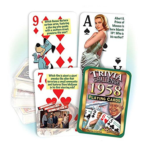 Anniversary Birthday 60th (Flickback Media, Inc. 1958 Trivia Playing Cards: 60th Birthday or Anniversary Gift)
