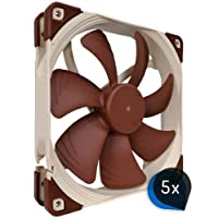5X Noctua NF-A14FLX (Bundle) silenzioso 140X 140X 25mm ad alte prestazioni della ventola di raffreddamento, 4Pin PWM, flusso d' aria elevato, Low Noise, COMPUTER DA INCASSO DA standard di gomma