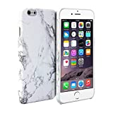 iPhone 6 Case, GMYLE Hard Case Print Crystal for iPhone 6 (4.7 inch Display) - White Marble Pattern Slim Fit Snap On Protective Hard Shell Back Case
