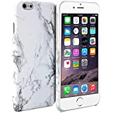iPhone 6 Case, GMYLE Hard Case Print Crystal for iPhone 6 / 6s (4.7 inch Display) - White Marble Pattern Slim Fit Snap On Hard Back Case