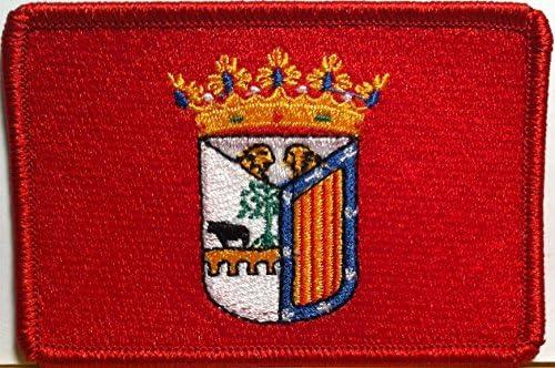 Salamanca España/Espana bandera parche para planchar Bordado Emblema Rojo Frontera: Amazon.es: Juguetes y juegos