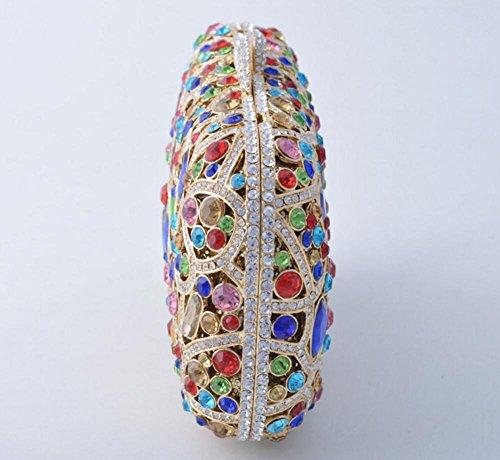XYXM Señora embrague de lujo de mano llena bolso de mano de metal hecho a mano cristal bolsa de vestir paquete de noche , color color